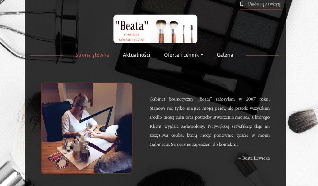 Realizacja Gabinet Kosmetyczny Beata Brodnica